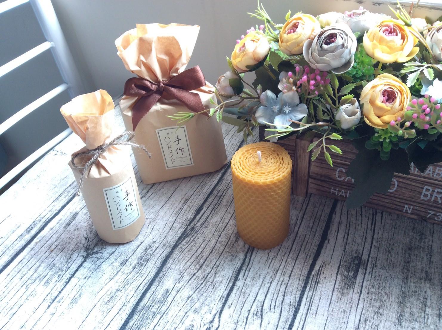 天然蜂蠟燭